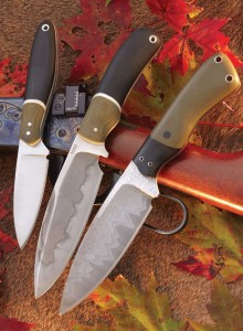 Ryan W. Knives makes knives that have both beauty and function. The satin finish of the High Uintas and the Hamon line found on the Agro are only two different blade finishes Ryan offers. He also offers knives in San Mai steel like on the Agro II knife.